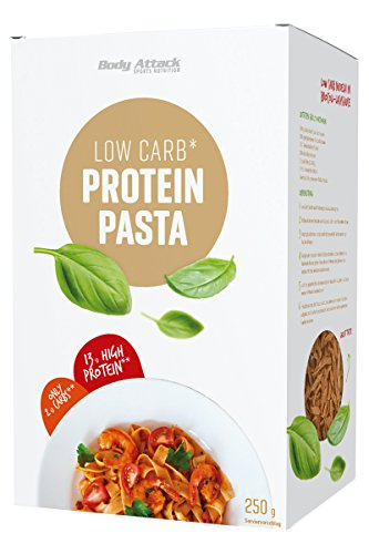 Body Attack Fitness Protein Pasta, 250g Packung -...