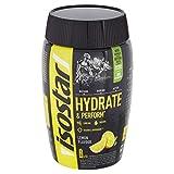 Isostar Hydrate & Perform Iso Drink – 400 g isotonisches Getränkepulver – Elektrolyt Pulver zur Unterstützung der sportlichen Leistungsfähigkeit – Zitrone