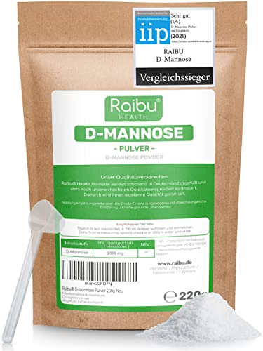 RAIBU® D-Mannose Pulver - 220g (3,6 Monate...