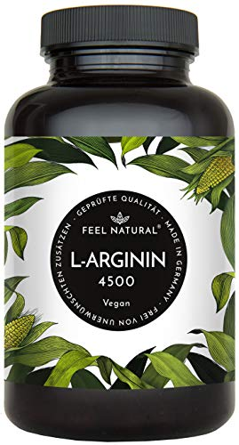 L-Arginin - 365 vegane Kapseln mit 4500mg...