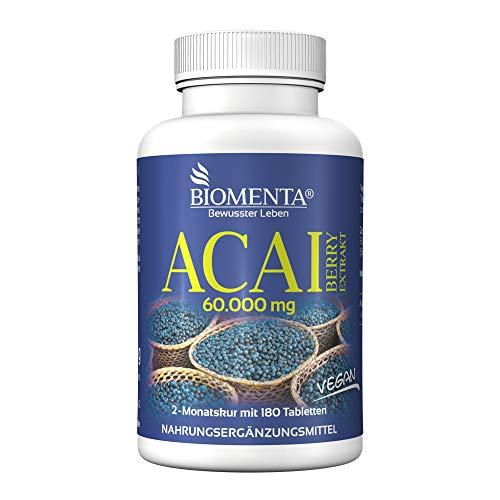 BIOMENTA Acai Beeren 60.000 mg - 180 Acai...