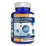 Vitamin B12 Hochdosiert 1100 mcg Methylcobalamin, 360 Tabletten 100% vegan b12 Nahrungsergänzungsmittel. 12 Monatspackung. Zur Verringerung der Müdigkeit und für ein gesundes Immunsystem