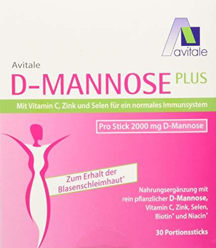 Avitale D-Mannose Plus 2000 mg Stick mit Niacin...
