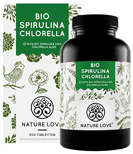 NATURE LOVE® Bio Spirulina + Bio Chlorella mit...