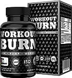 Workout Burn Workout Fatburner, schnell Abnehmen + Diät-Booster, exklusive Formel für noch schnelleres Abnehmen speziell während Workout + Diätphasen, 60 vegane Kapseln