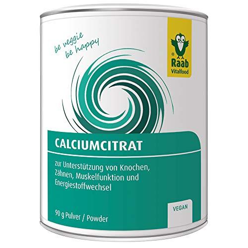 Raab Vitalfood Calcium-Citrat Pulver, 90 g, vegan,...