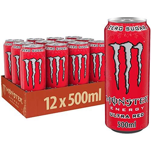 Monster Energy Ultra Red, 12x500 ml, Einweg-Dose,...