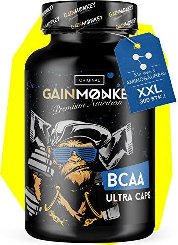 GAINMONKEY® BCAA Kapseln XXL - 300 Kapseln...