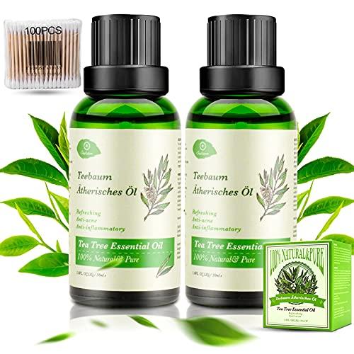 Teebaumöl 100% Natürrein Reines, 2x30ML Pure Bio...