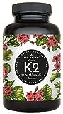 Vitamin K2 MK7-365 Kapseln. Hochdosiert mit 200µg (mcg) je Kapsel. 99,7+% All-Trans. Laborgeprüft, ohne Zusätze wie Magnesiumstearat. Vegan, in Deutschland produziert