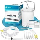 Lyvanas Einlaufset für Darmeinlauf (2 Liter) - einfach & angenehm - Irrigator zur Darmreinigung in Vollausstattung - Einlauf Set sicher & hygienisch (Modell 2021)