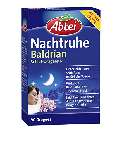 Abtei Nachtruhe Baldrian Schlaf-Dragees N -...
