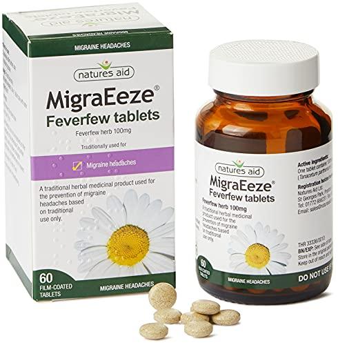 Natures Aid MigraEeze 100mg (Feverfew)...