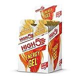 HIGH5 Energy Gel Power Gel, schnell und dauerhafte Energie im leicht zu öffnenden Portionsbeutel, mit natürlichem Fruchtsaft – Multipack 20x40g (Banane)