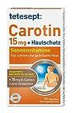 tetesept Carotin 15 mg + Hautschutz – Beta-Carotin & Antioxidantien – 1 x 30 Tabletten [Nahrungsergänzungsmittel]
