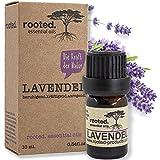 rooted.® - 10ml Lavendelöl - 100% naturreines ätherisches Lavendelöl (Lavandula Angustifolia) - EU Erzeugnis - natürliches Lavendelöl für Naturkosmetik, Raumdiffuser, DIY Duftkerzen und Seifen