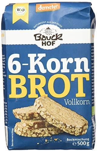 Bauckhof 6-Korn-Brot Vollkorn Demeter, 6er Pack (6...