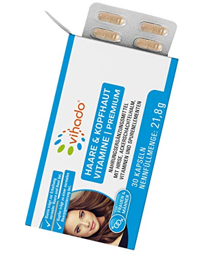 Vihado Vitamine für Haare & Kopfhaut –...
