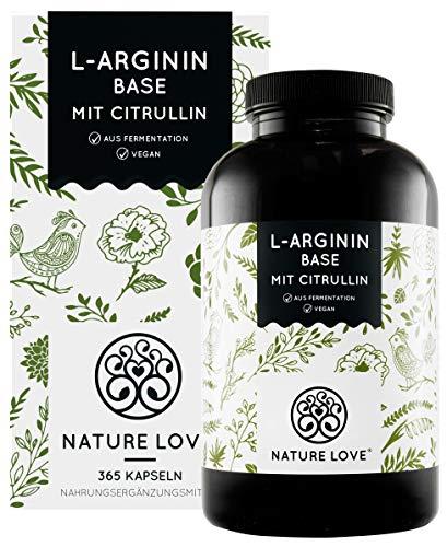 NATURE LOVE® L-Arginin Base mit Citrullin -...