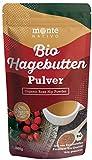 Bio Hagebuttenpulver 1kg (1000g) Monte Nativo - Vegan und Frei von Zusatzstoffen - 100% Bio Hagebutten Pulver mit wertvollen Vitaminen und Mineralstoffen - aus kontrolliertem biologischen Anbau