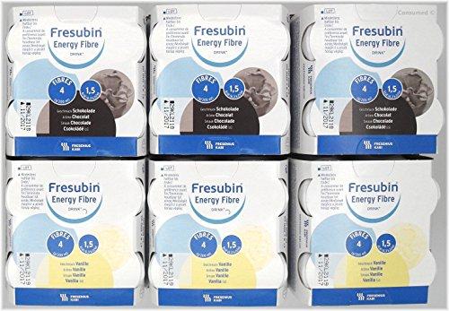 24x 200ml Fresubin Energy Fibre DRINK 2 Sorten -...
