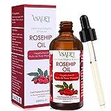 Hagebuttenöl 100ml - 100% Rein Natura, Kaltgepresst, Unraffiniert, Vegan - Premium Hagebuttenkernöl für Haare, Gesicht, Körper, Haut, Nägel