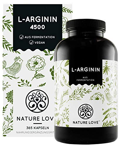 NATURE LOVE® L-Arginin - 365 vegane Kapseln -...