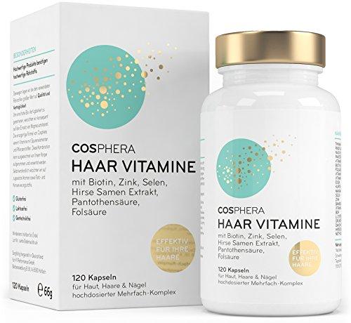 Cosphera Haar-Vitamine - Hochdosiert mit Biotin,...
