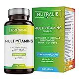 Multivitamin-Kapseln 29 Essentielle Nährstoffe Vegan   Vitamine A, B, C, D, E, K, Biotin, L-Cystein, Coenzym Q10 und 9 Mineralstoffe   Multivitamin-Komplex 60 Kapseln   Nutralie