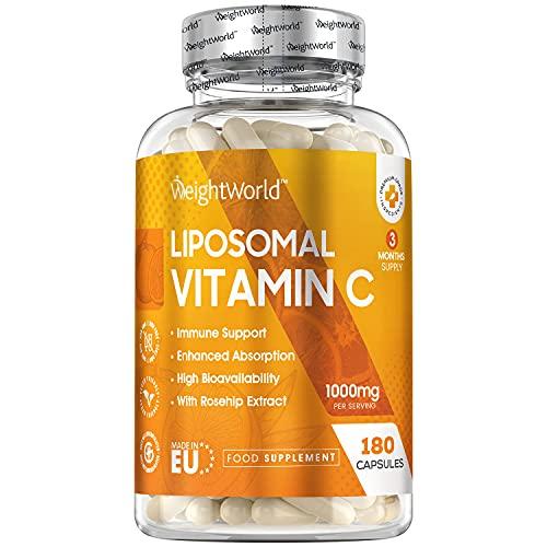 Liposomales Vitamin C - 180 vegane Kapseln - Mit...