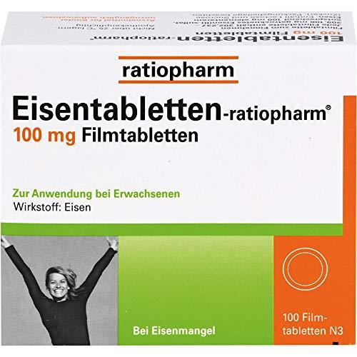 Eisentabletten-ratiopharm 100 mg Filmtabletten,...