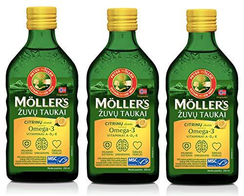 Möller's Omega-3 Lebertran Zitrone (250ml) -...