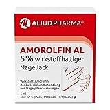 ALIUD PHARMA Amorolfin AL 5% wirkstoffhaltiger Nagellack, 5 ml: Behandlung von Nagelpilz mit Tupfern, Feilen & Spateln