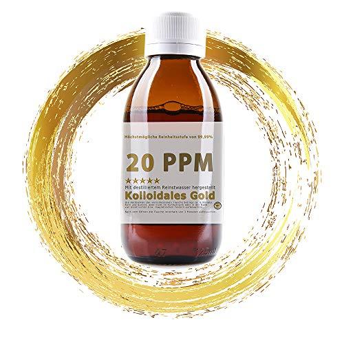 Kolloidales Gold 20PPM Braunglasflasche 1000ml -...
