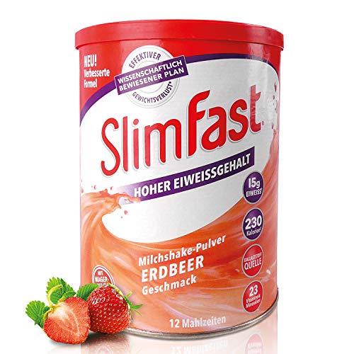 SlimFast Milchshake Pulver Erdbeere I...