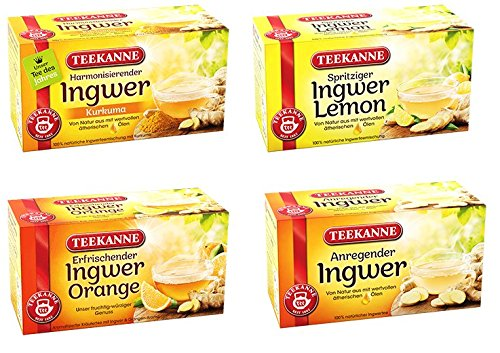 Teekanne Ingwer Tee Mix - Ingwer-Pur,...