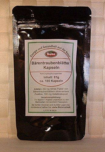 Bärentraubenblättern-Kapseln 81g ca.180 Kapseln...