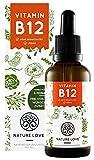 NATURE LOVE® Vitamin B12 Tropfen Vegan in 50ml (1700 Tropfen). Beide aktive B12 Formen: Methyl- & Adenosylcobalamin. Hoch bioverfügbar, laborgeprüft, ohne Zusätze, hergestellt in Deutschland