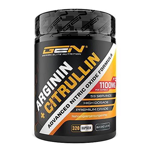 L-Arginin + L-Citrullin - 320 Kapseln - 1100 mg...