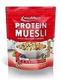 IronMaxx Protein Müsli Schokolade - 2000g - Veganes Fitness Müsli laktosefrei und glutenfrei - Eiweiß Müsli mit 45% Proteingehalt - Low Carb - Wasserlöslich - Designed in Germany