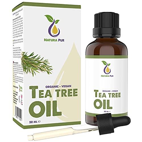 Teebaumöl BIO 50ml mit Pipette - 100% naturreines...
