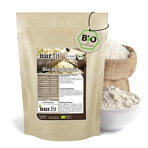 nur.fit by Nurafit BIO Reisprotein-Pulver 1kg –...