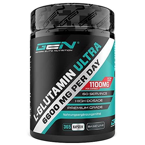 L-Glutamin - 365 Kapseln - Extra hochdosiert mit...