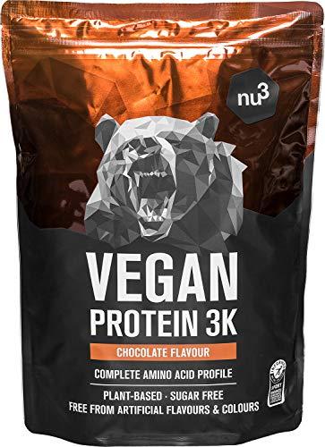 Vegan Protein 3K Shake - 1 Kg Chocolate -...