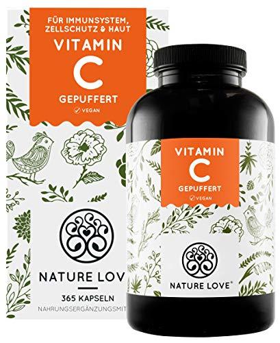 NATURE LOVE® Gepuffertes pflanzliches Vitamin C -...