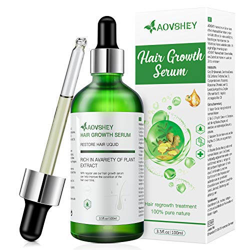 AOVSHEY Haarwachstum Serum 100ML Anti-Haarausfall...