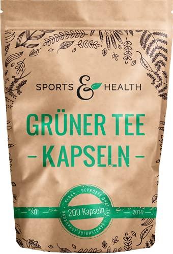 Grüner Tee Kapseln - 1.000 mg pro Tagesdosierung...