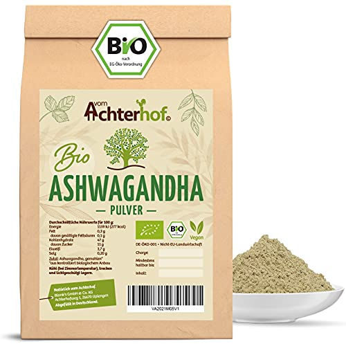 Ashwagandha Pulver BIO (500g)   100% ECHTE...