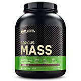 Optimum Nutrition ON Serious Mass Hochkalorisches Weight Gainer Protein Pulver, Whey Protein, Vitamine, Kreatin und Glutamin, Chocolate, 8 Portionen, 2.73kg, Verpackung kann Variieren