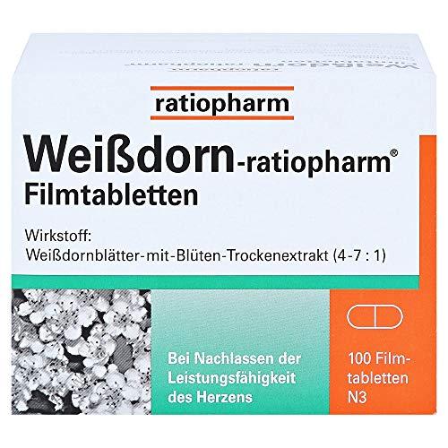 Weißdorn-ratiopharm Filmtabletten, 100 St....